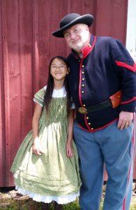 Jerry and Amanda at Civil War Re-Enactment